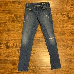 Blank NYC distressed straight leg 28